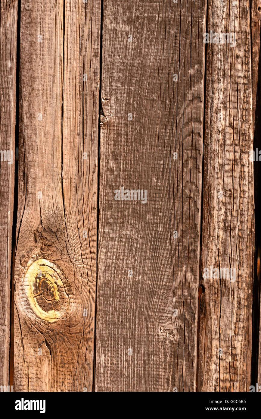 Los tablones de valla de madera Foto de stock