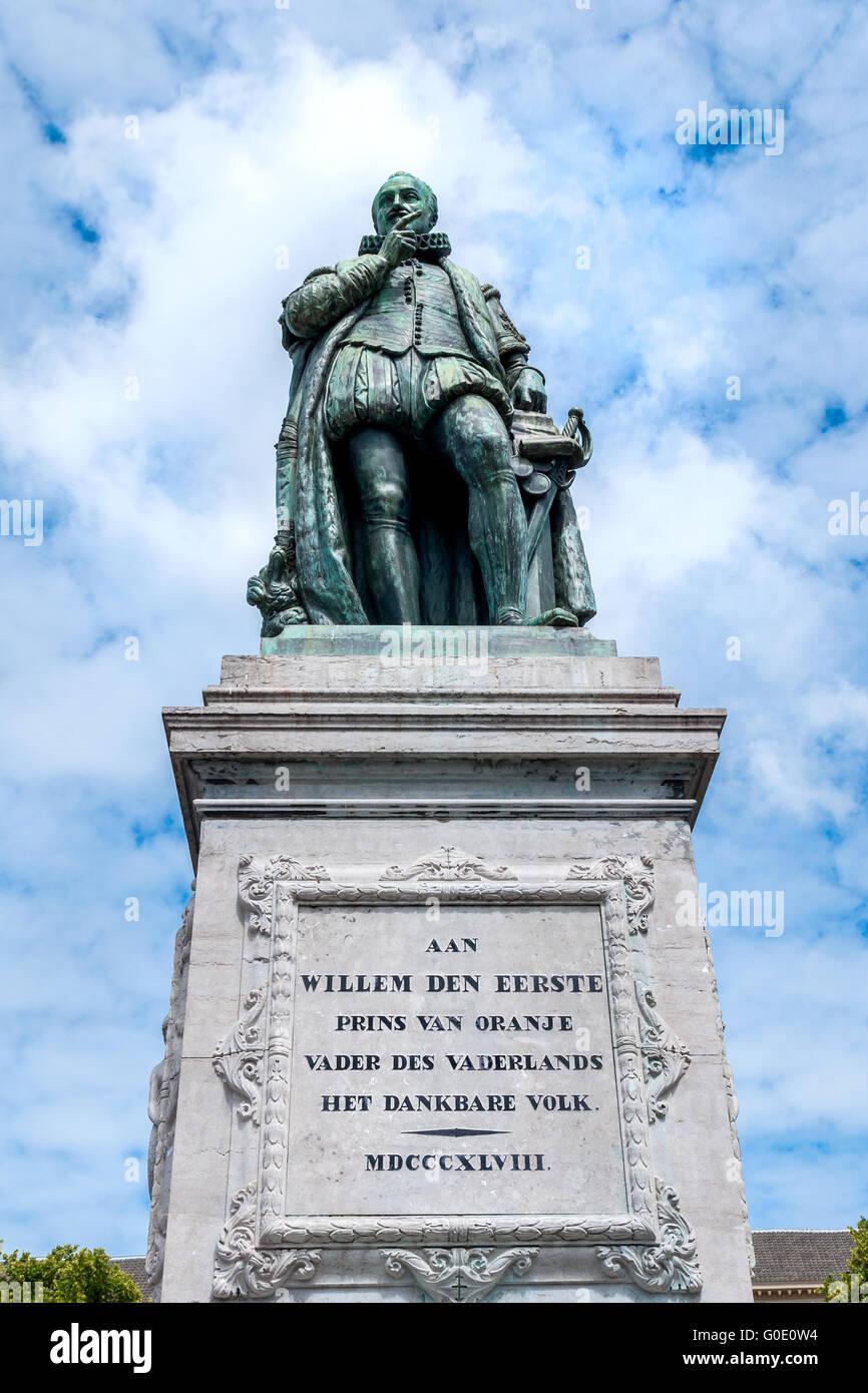El monumento de Guillermo el primer príncipe de Orán Imagen De Stock