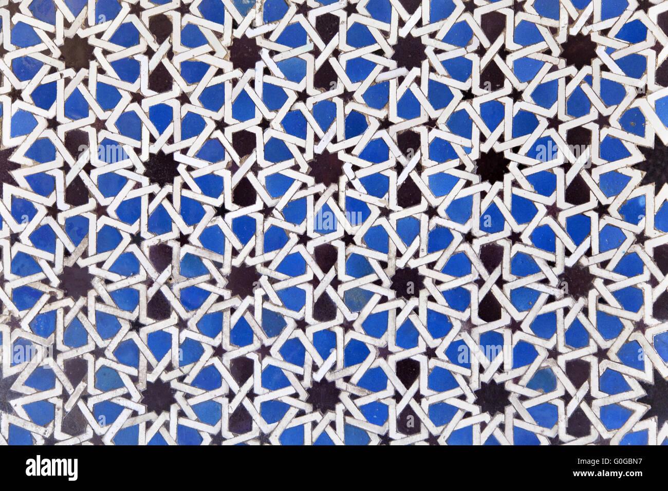 Arabian mosaico en el Alcázar Imagen De Stock