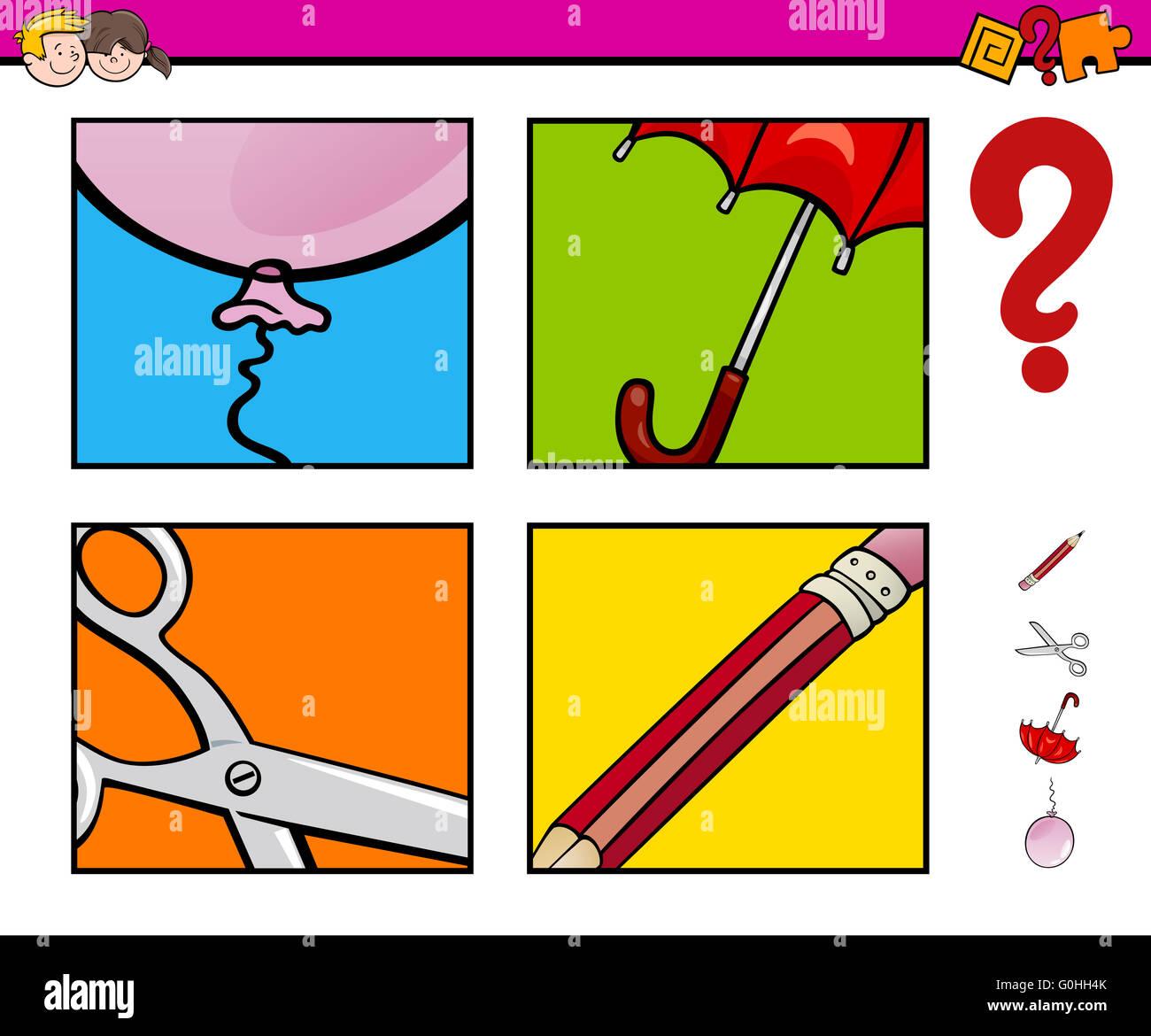 Actividad de educación preescolar Foto de stock