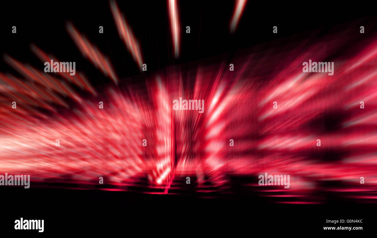 La velocidad del zoom abstracta colorido efecto de luz de color rojo y blanco sombra Foto de stock