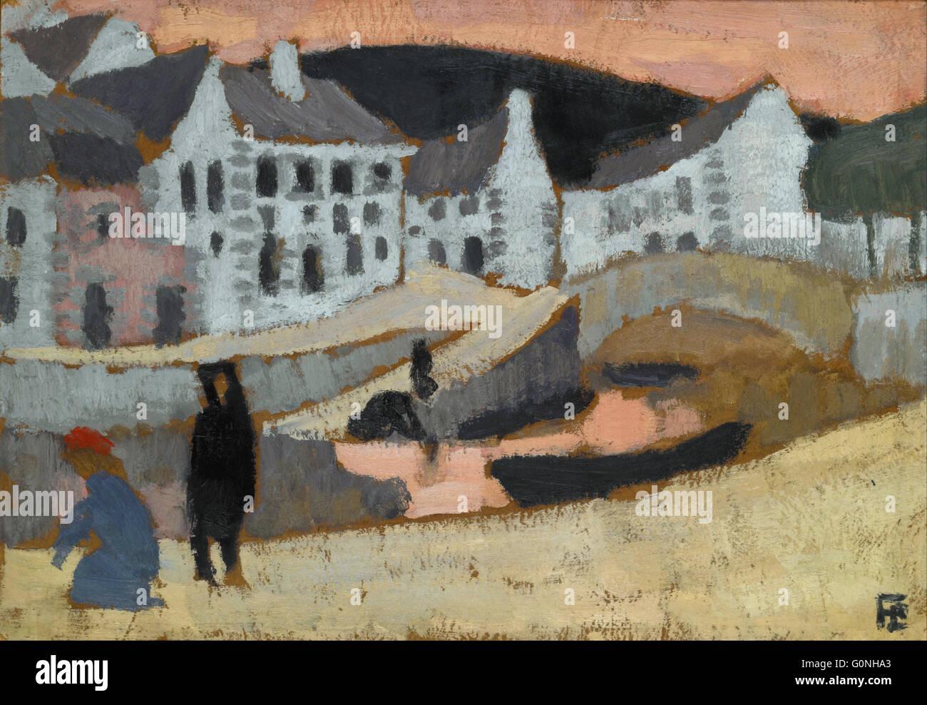La Fresnaye, Roger de - El Canal, el paisaje de Bretaña Foto de stock