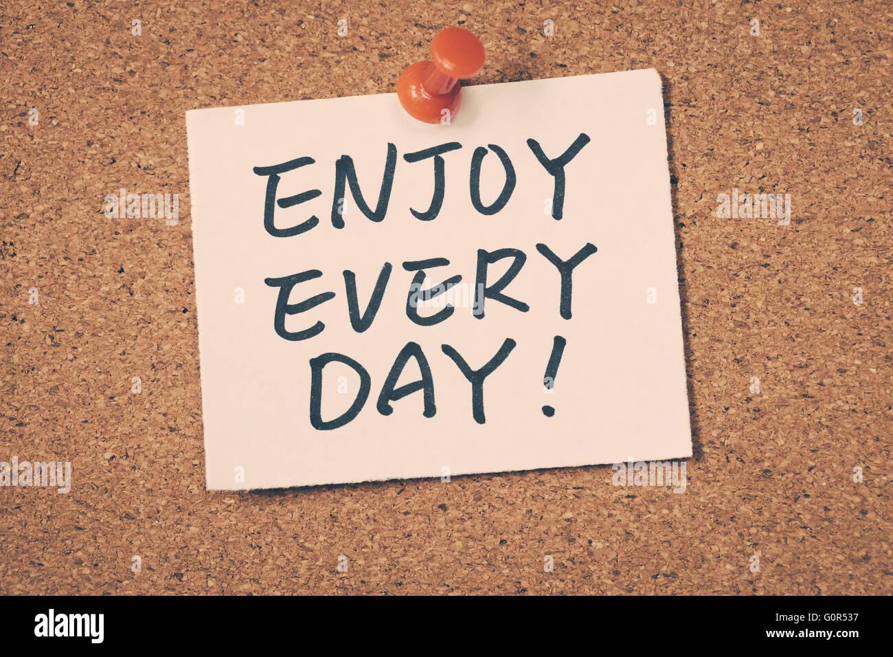 Disfrute cada día Imagen De Stock