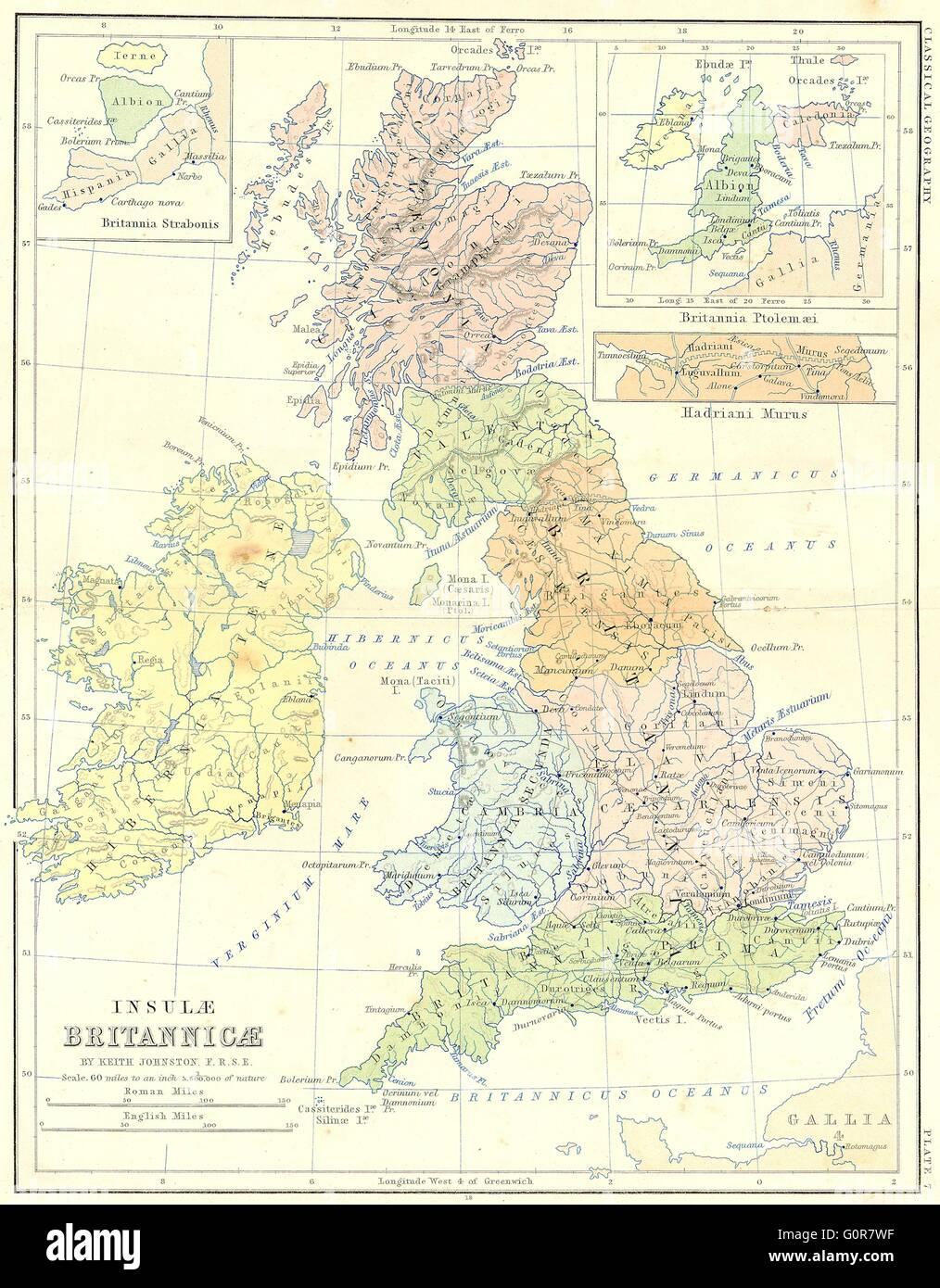 Muro De Adriano Mapa.Britannia Strabonis Ptolemaei El Muro De Adriano 1880