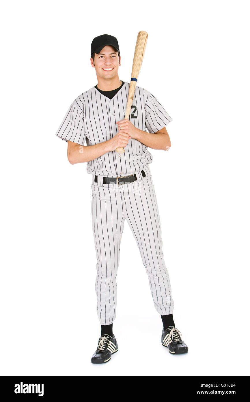Aislado en blanco serie de dos hombres en uniformes de béisbol d31eb8c75a9
