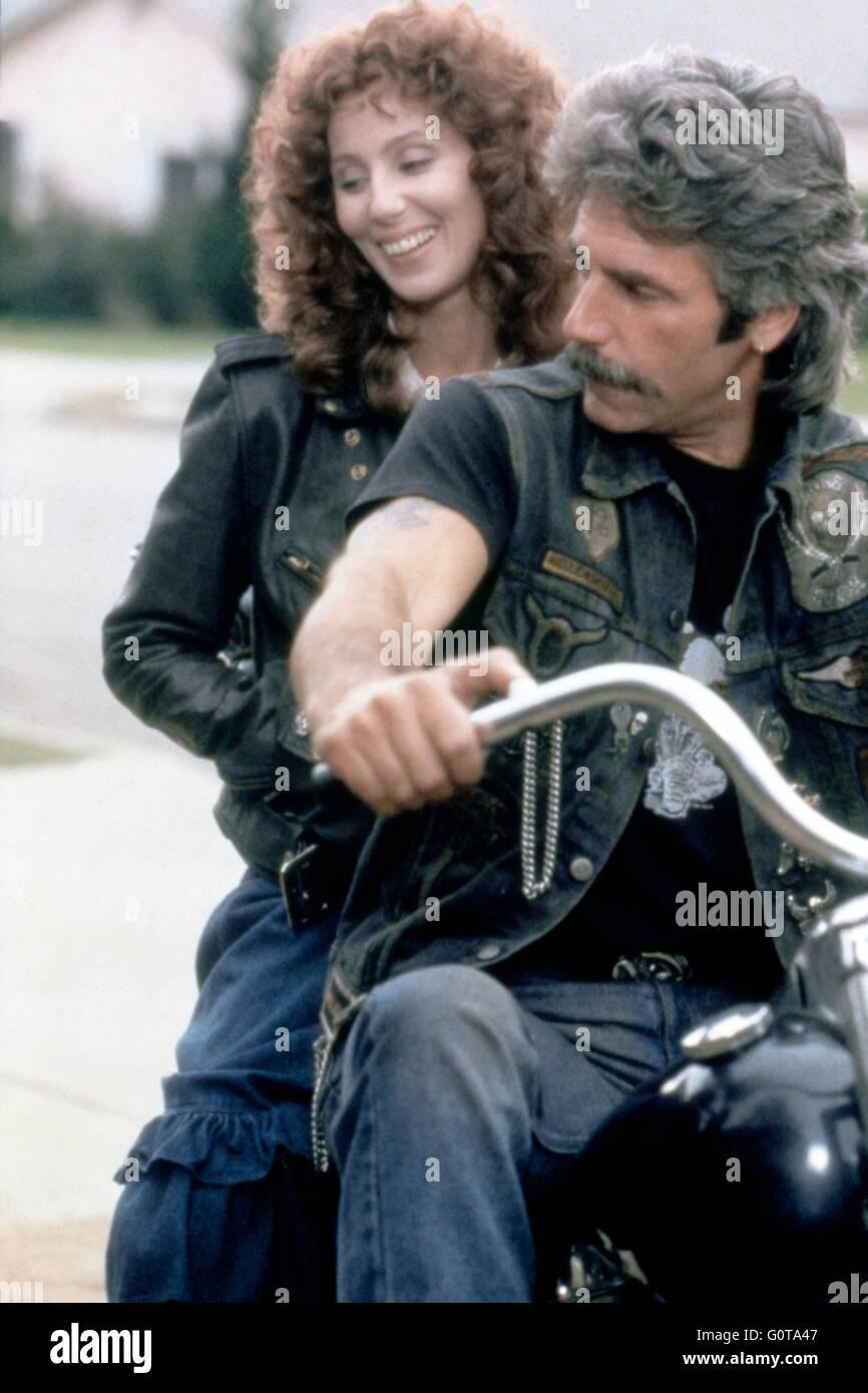 Cher y Sam Elliott / máscara / 1985 dirigida por Peter Bogdanovich (Universal Pictures) Imagen De Stock