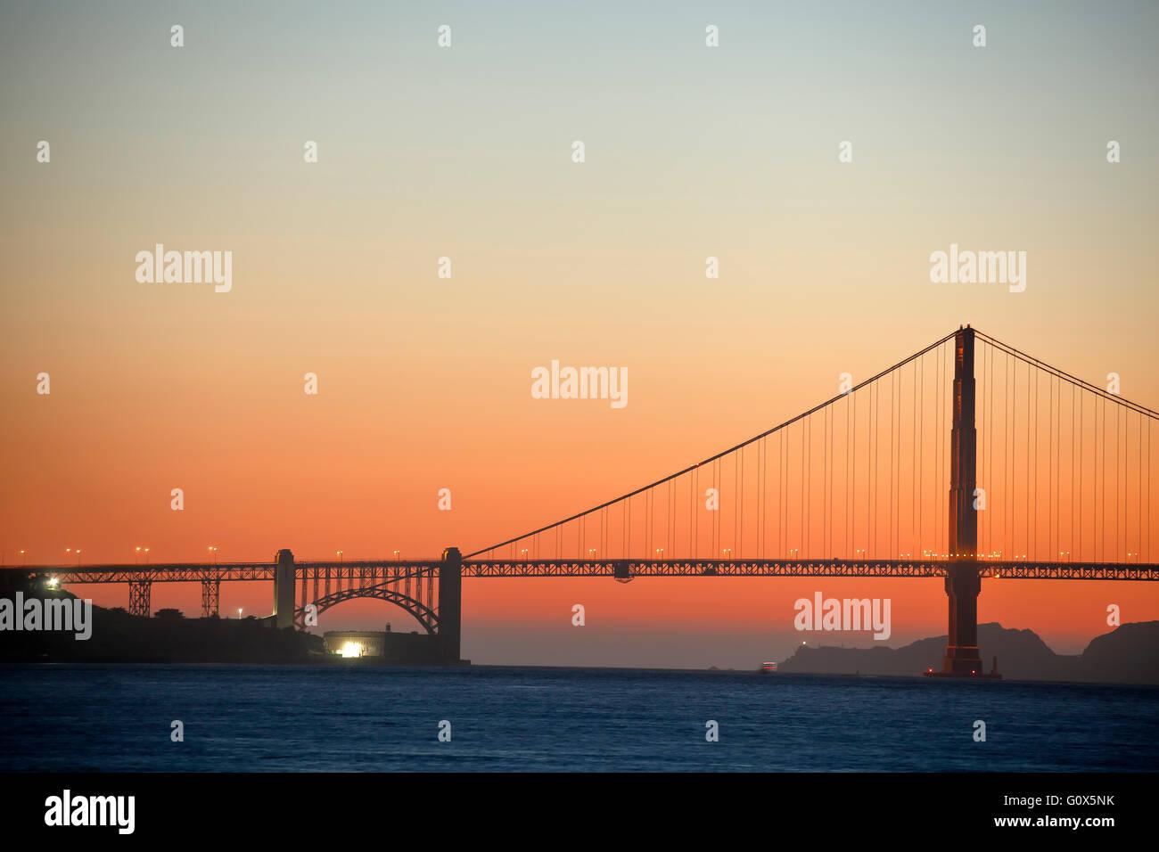 Puente Golden Gate, San Francisco, California, EE.UU. Foto de stock