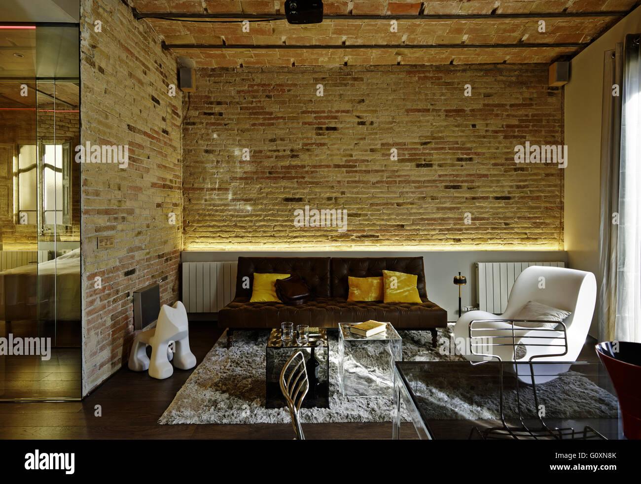 Barcelona Muebles Salon.Apartamento Nou De La Rambla Barcelona Espana Salon