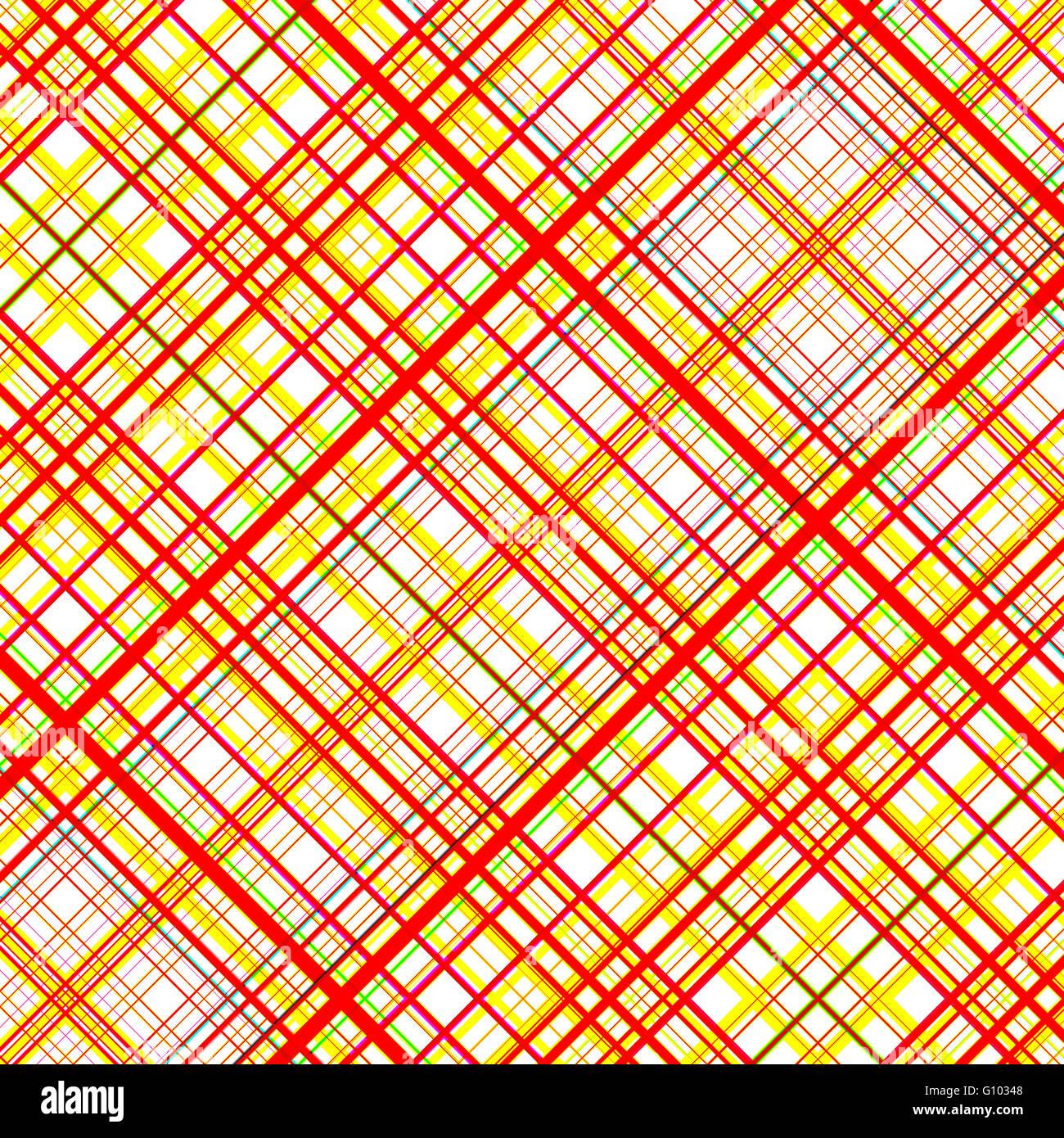 Naranja y amarillo, los colores vibrantes diagonal patrón de cuadrícula. Imagen De Stock