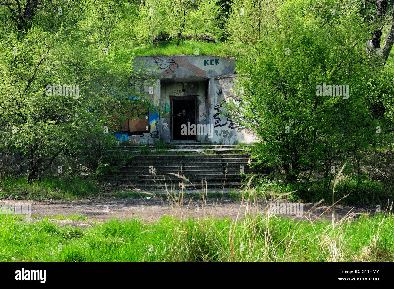 Sábado 7 de mayo de 2016, Witoszow, Baja Silesia, Polonia, comando bunker del Grupo Norte del Ejército Imagen De Stock