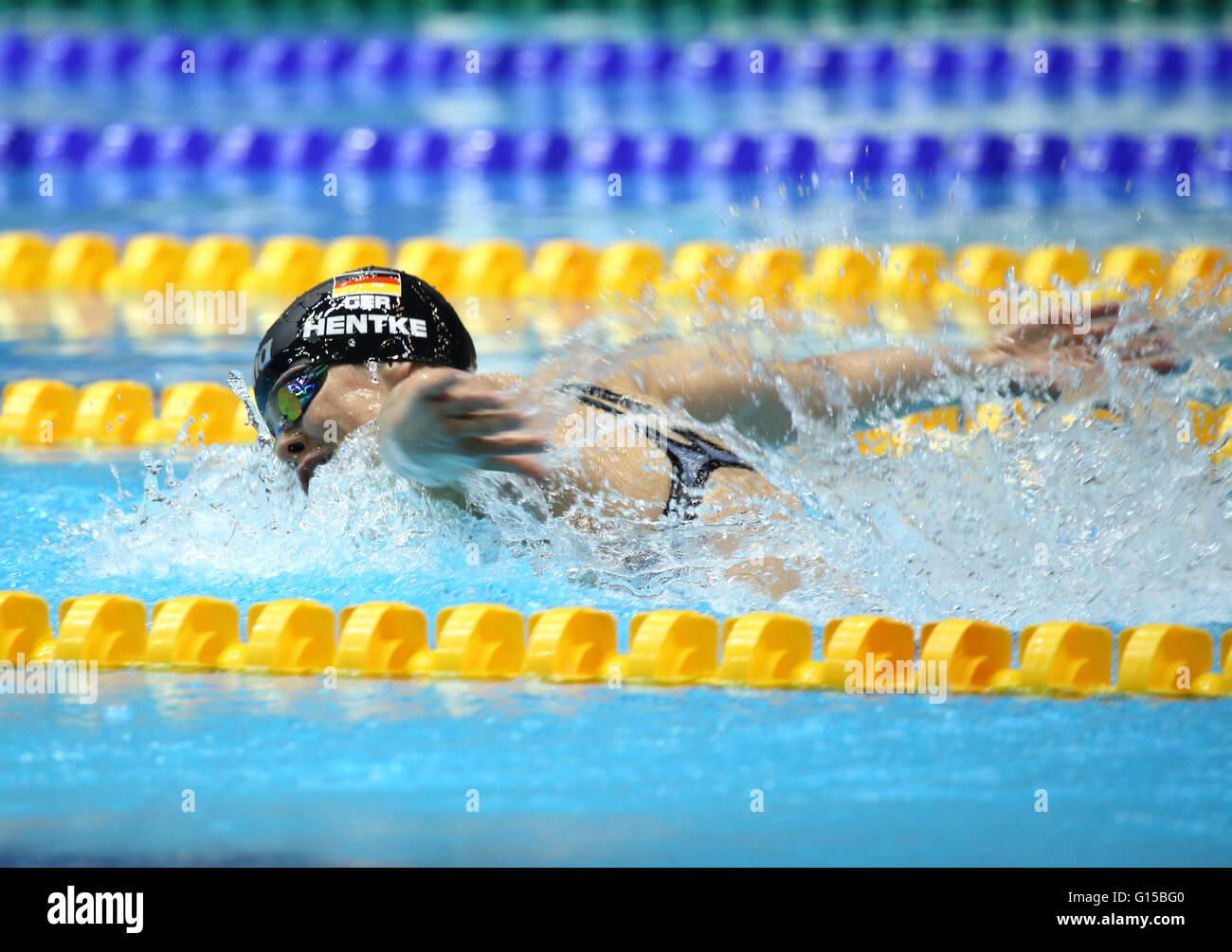 Campeonatos de natación alemana, Deutsche Meisterschaften Schwimmen im, y ensayos de calificación Olímpica Imagen De Stock