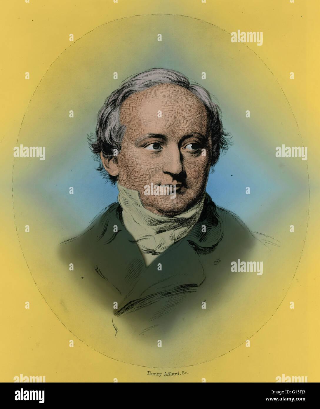 Retrato de Karl CRISTIANO JOSIAS von Bunsen (Agosto 25, 1791 - Noviembre 28, 1860), diplomático alemán y erudito. Nacido en Korbach alemán en el principado de Waldeck en una familia pobre, Bunsen sobresalió en la escuela. Fue designado a la Embajada de Prusia Foto de stock