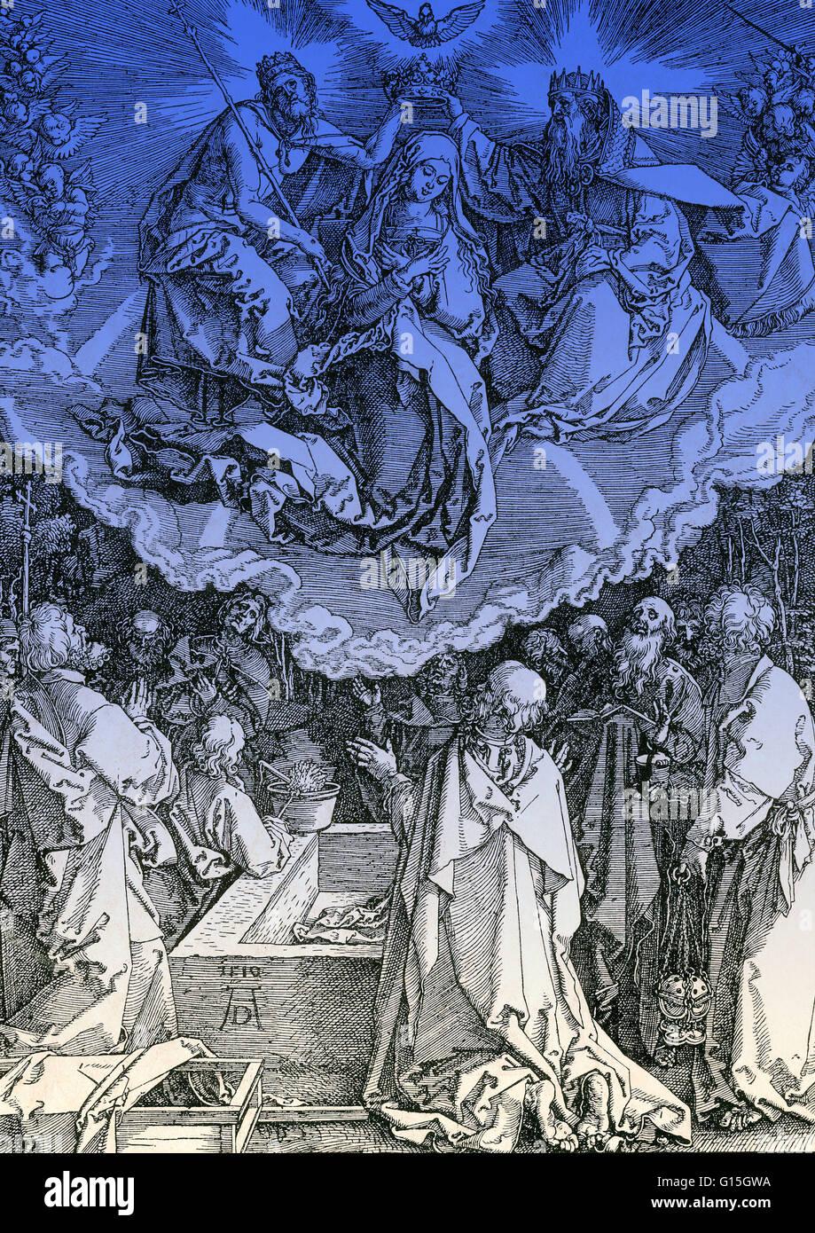 Según la tradición cristiana, la asunción de la Virgen María, es el caso en el cual el cuerpo Imagen De Stock