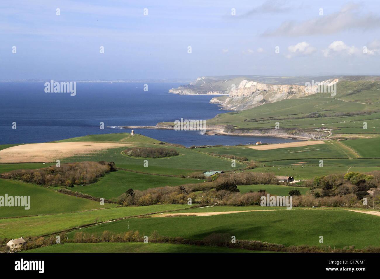 Kimmeridge de cabeza Swyre, Kingston, Purbeck Corfe, la Costa Jurásica, en Dorset, Inglaterra, Gran Bretaña, Reino Unido, UK, Europa Foto de stock