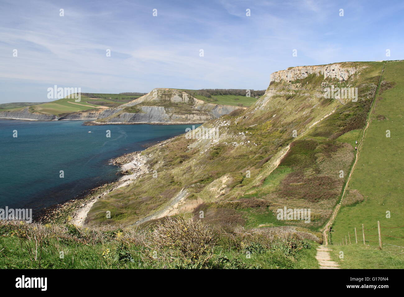 Emmetts Hill, Worth Matravers, Corfe, Purbeck, la Costa Jurásica, en Dorset, Inglaterra, Gran Bretaña, Reino Unido, UK, Europa Foto de stock