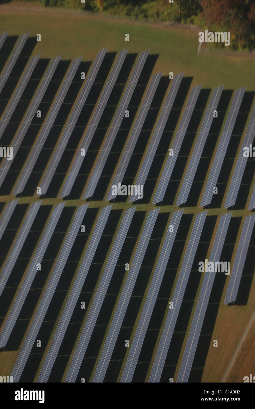 Paneles solares areal Pennsylvania Imagen De Stock