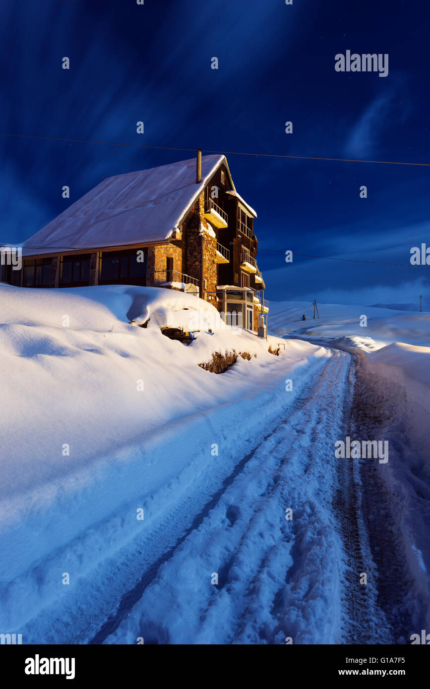 Eurasia, Cáucaso, Georgia, Gudauri ski resort Imagen De Stock