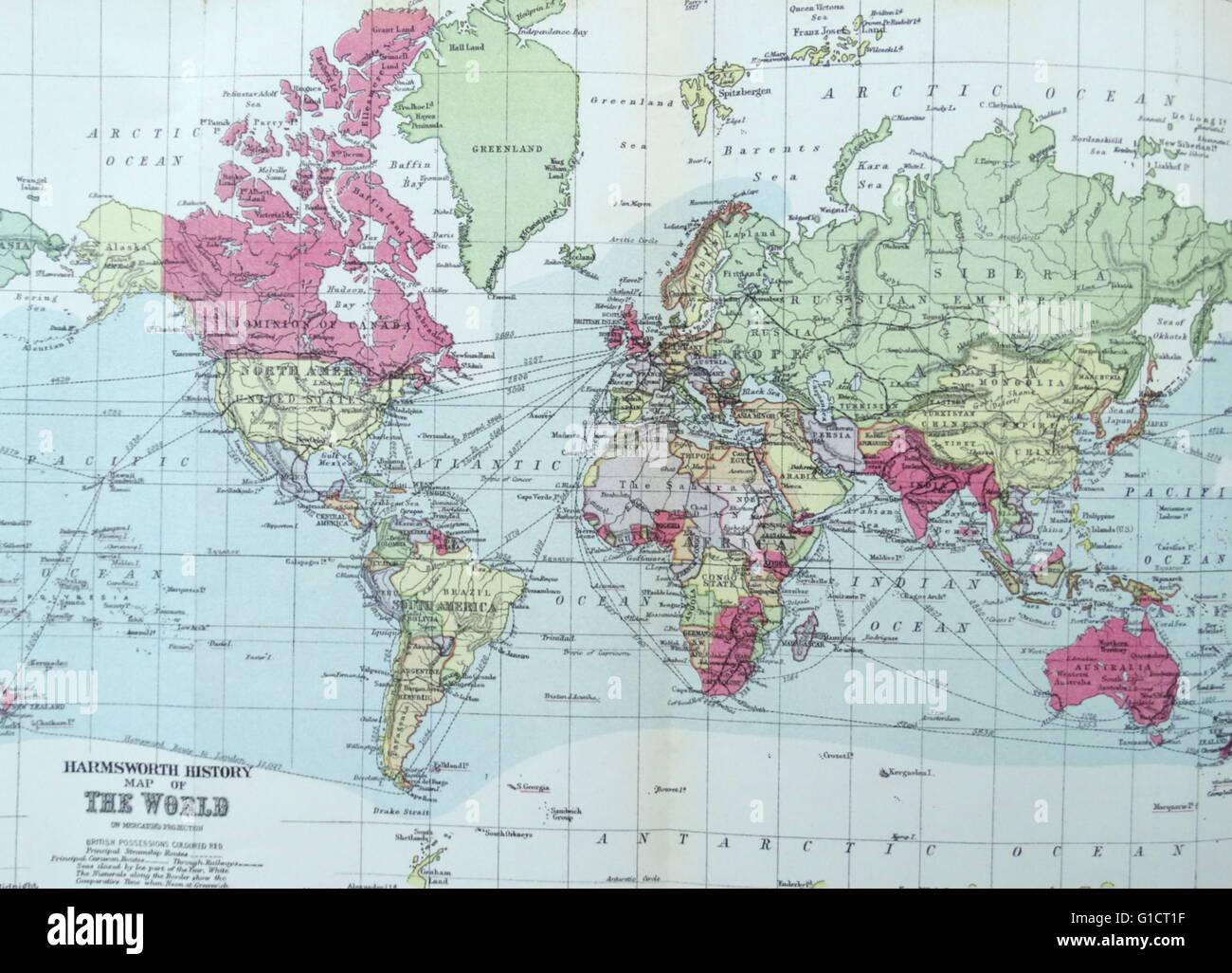 Ilustración de Harmsworth Historia del Mundo: Imagen De Stock