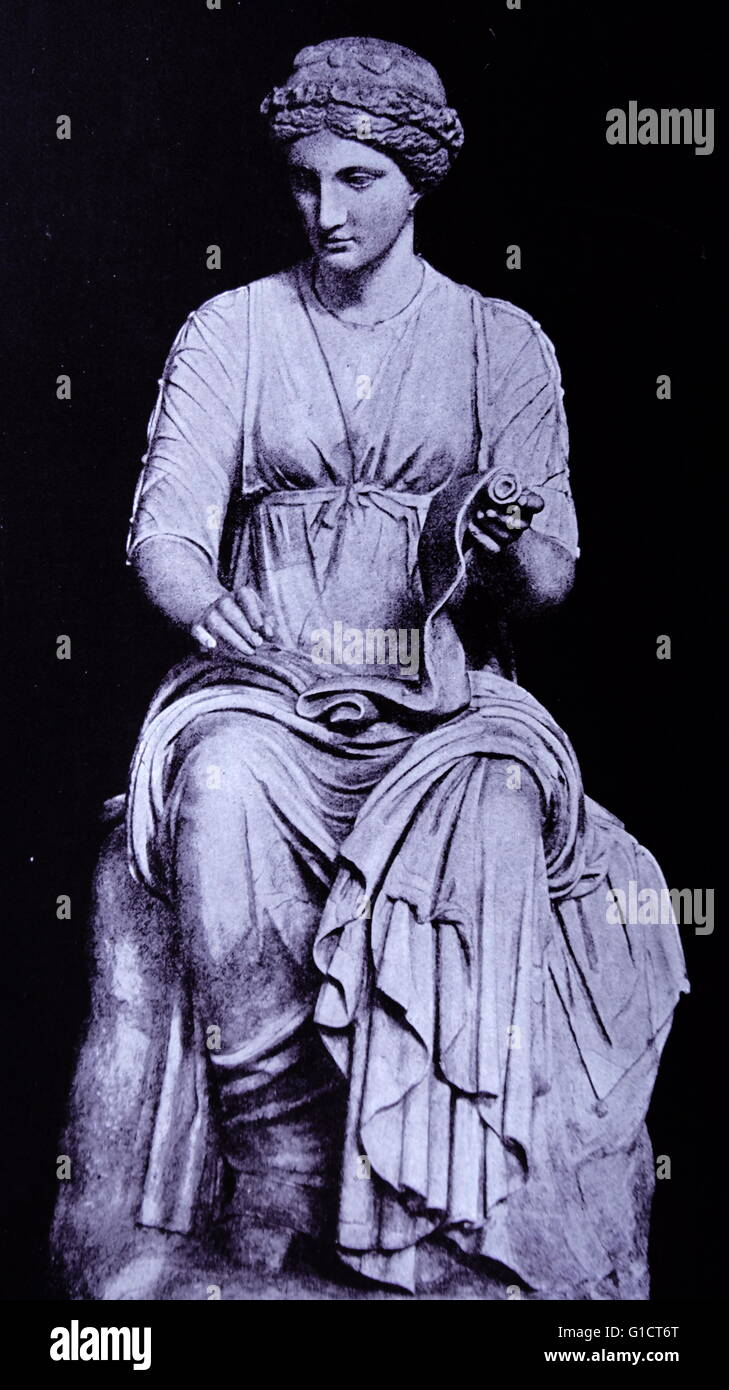 Estatua de Clion, la musa de la historia Imagen De Stock