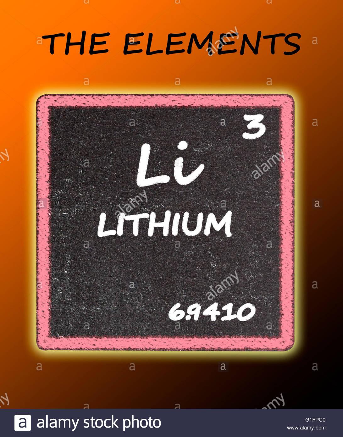 Litio detalles de la tabla peridica foto imagen de stock litio detalles de la tabla peridica urtaz Choice Image