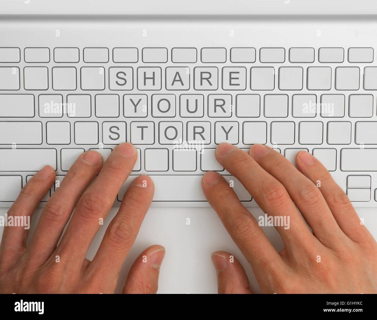 Comparta su historia concepto Imagen De Stock