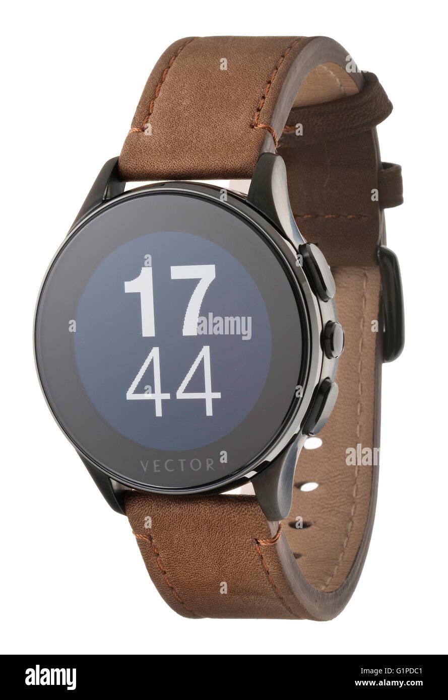 Vector Luna Smart Watch Imagen De Stock