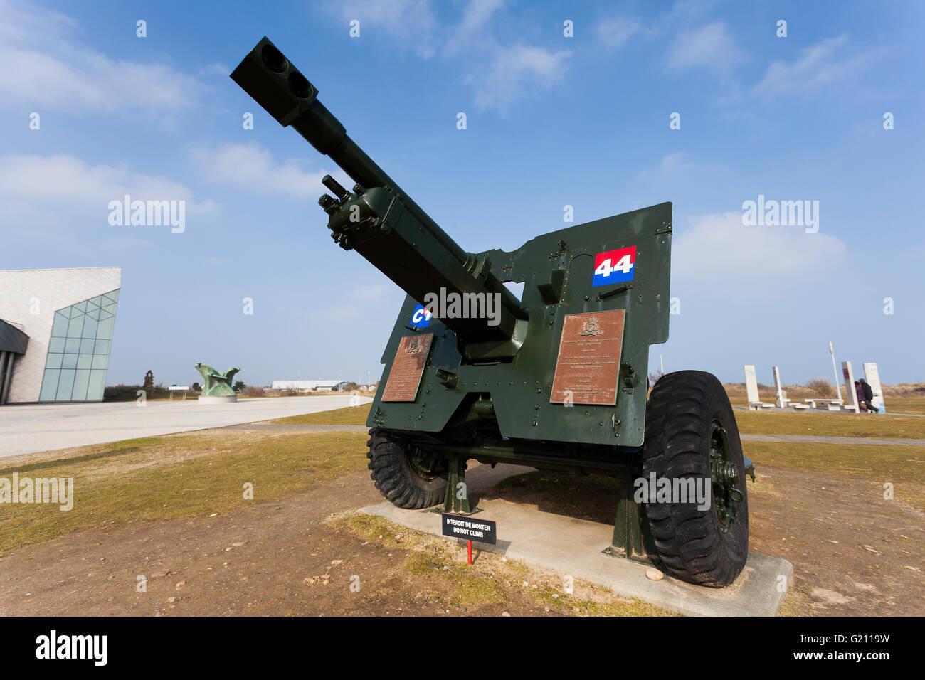 Centro canadiense de artillería, Juno Beach, Courseulles-Sur-Mer, zona de playas del Día-D, departamento Imagen De Stock