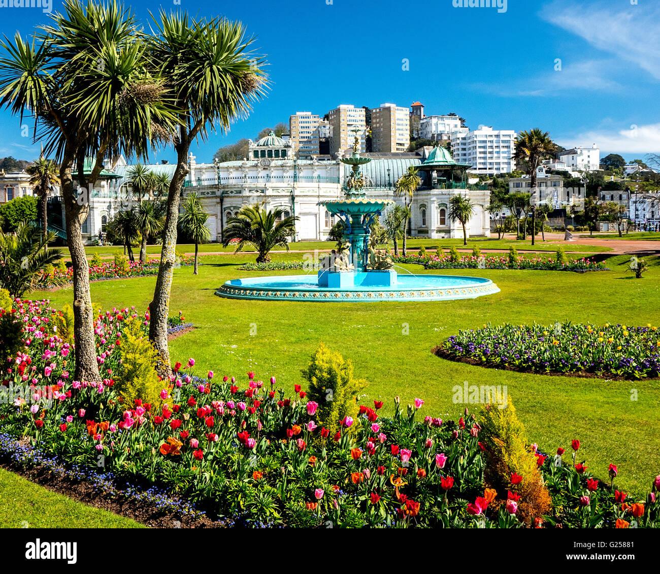Gb - Devon: princesa jardines y pavilion, Torquay, Riviera inglesa Imagen De Stock