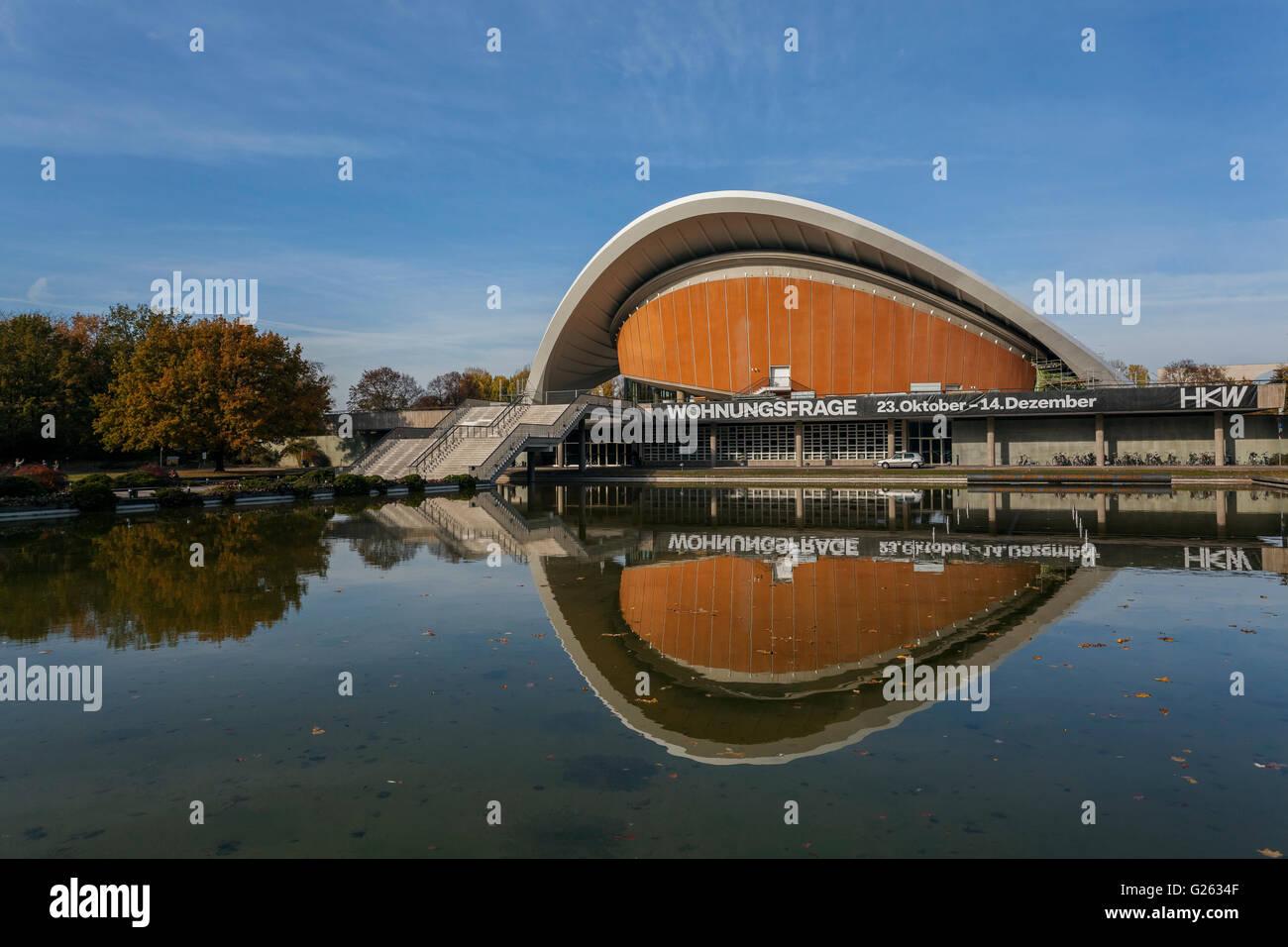 Haus der Kulturen der Welt, Casa de las Culturas del Mundo, Großer Tiergarten, arquitecto Hugh Stubbins, 1957, Imagen De Stock