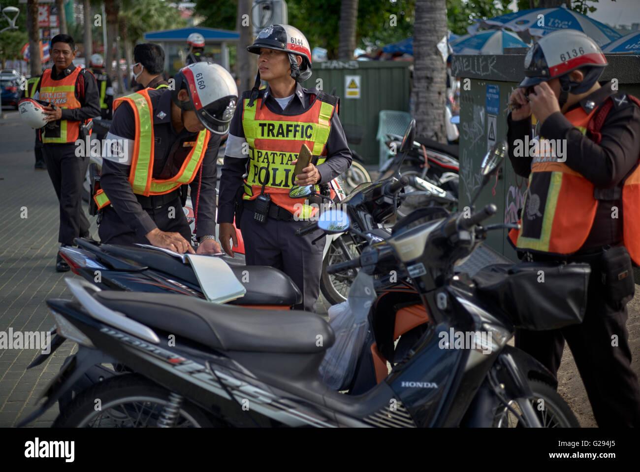 La policía de tráfico de Tailandia. Tailandia S. E. Asia Imagen De Stock
