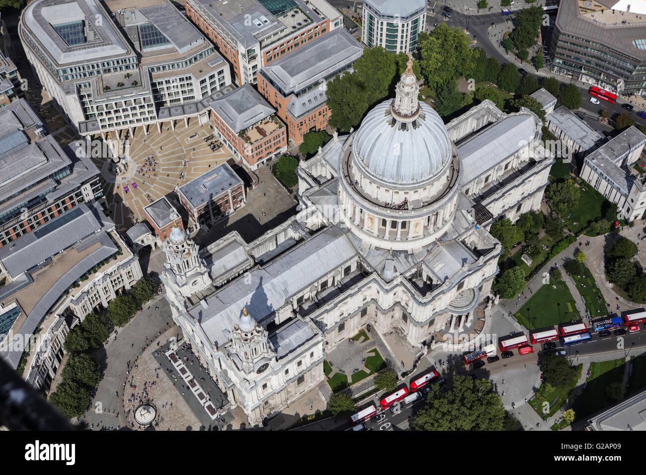 Una vista aérea de la Catedral de San Pablo, Londres Imagen De Stock