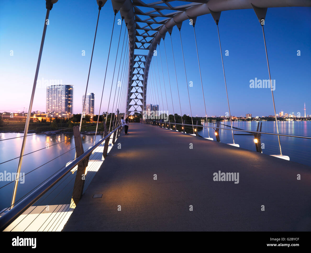 Puente de arco del Río Humber, Toronto, provincia de Ontario, Canadá Imagen De Stock
