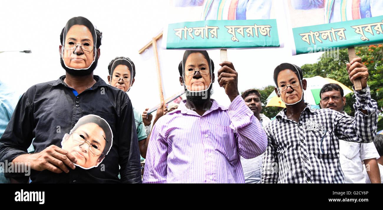 En Kolkata, India. 27 de mayo de 2016. La India Trinamool Congress Jefe Mamata Banerjee fue juramentado como ministro Imagen De Stock