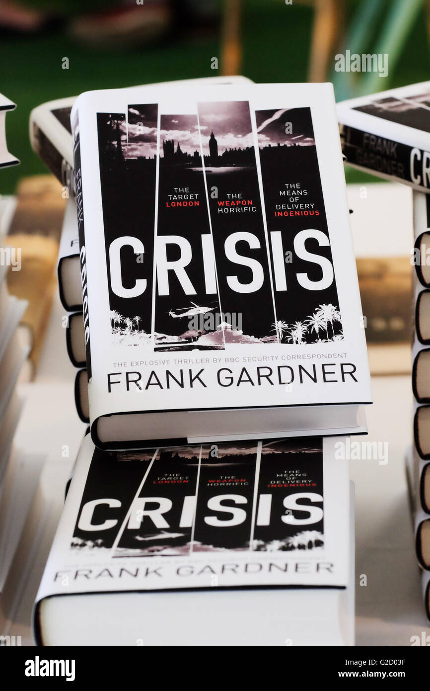 Hay Festival - Viernes 27 de mayo de 2016 - La Crisis de la nueva novela de debut de la BBC Frank Gardner Corresponsal Imagen De Stock