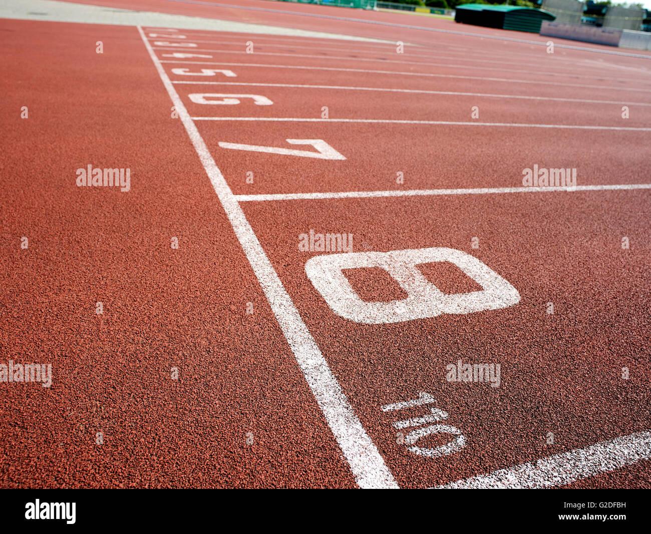 Pista de Atletismo de todo tiempo Imagen De Stock