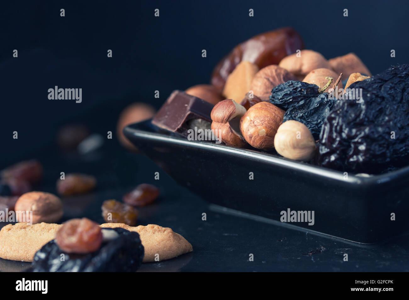 mezcla de frutos secos Imagen De Stock