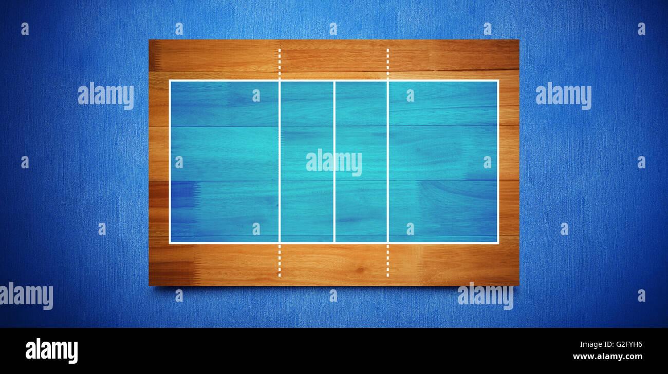 Imagen compuesta de dibujo de campo de deportes Imagen De Stock
