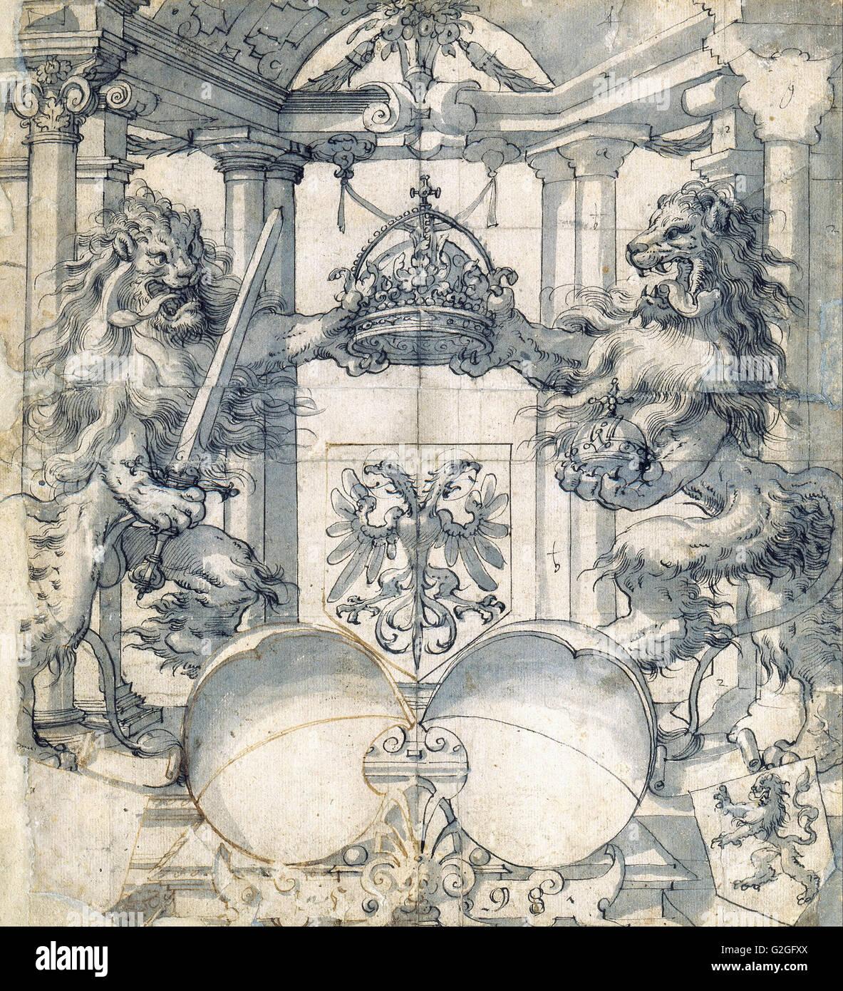 Christoph Murer - Cartoon para una ventana Stained-Glass - Museo Kunstpalast Düsseldorf Imagen De Stock