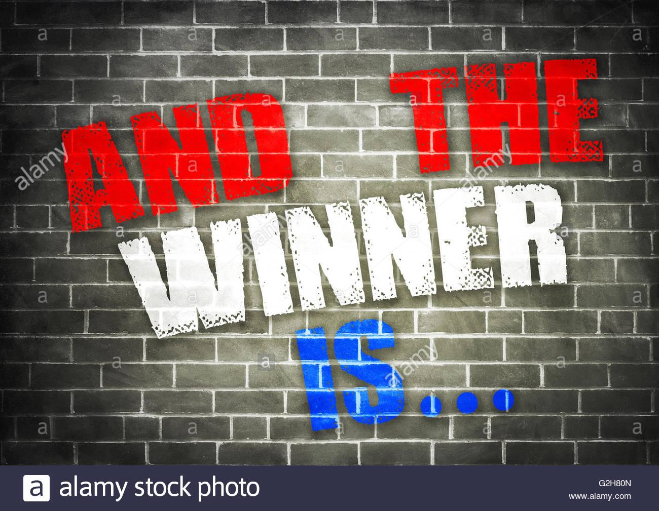 Y el ganador es…. Imagen De Stock
