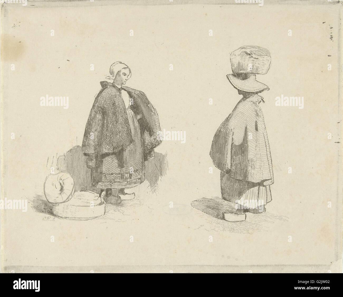 Dos mujeres, Charles Rochussen, 1824 - 1894 Imagen De Stock