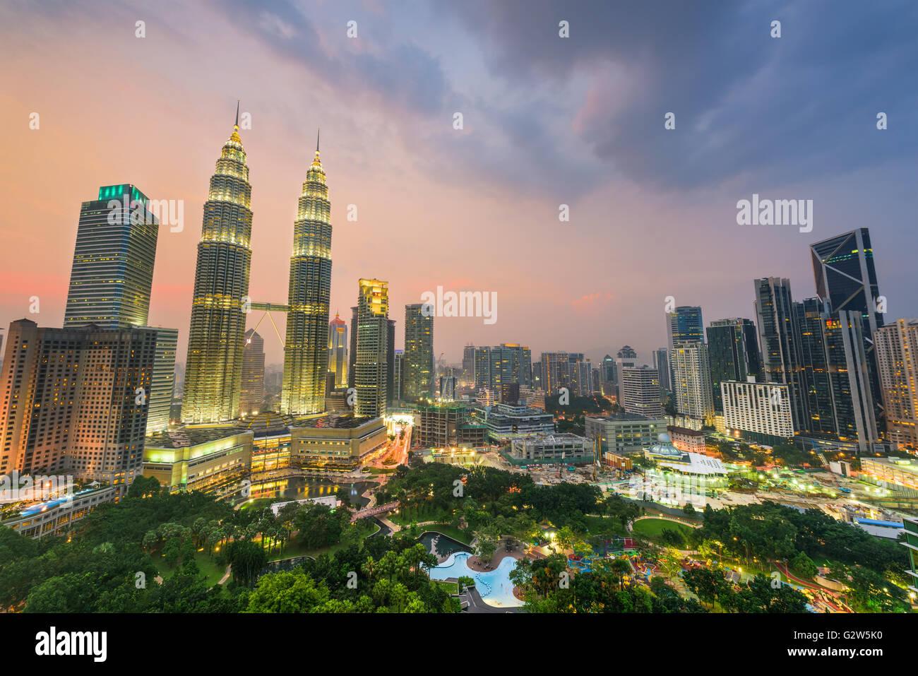 Horizonte de Kuala Lumpur, Malasia. Imagen De Stock