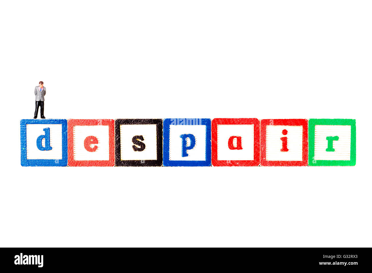 La desesperación de la pérdida completa o la ausencia de esperanza, la desesperanza, la desesperación Imagen De Stock