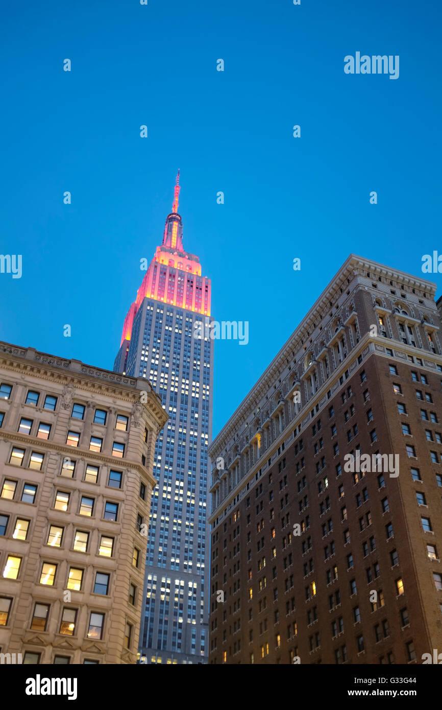 Edificio Empire State en la Ciudad de Nueva York Imagen De Stock