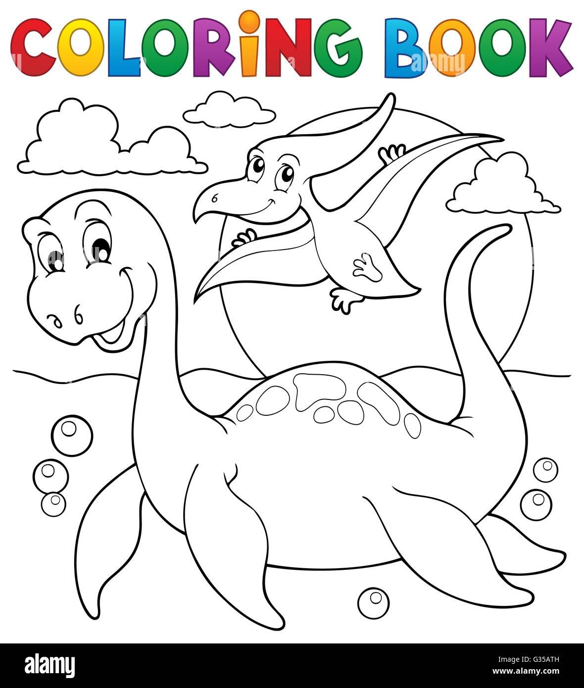 Libro para colorear de dinosaurios - Ilustración imagen Tema 7 Foto ...