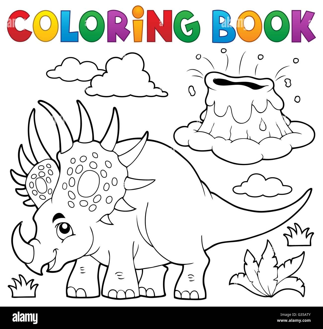 Libro para colorear de dinosaurios Tema 2 - Imagen ilustración Foto ...