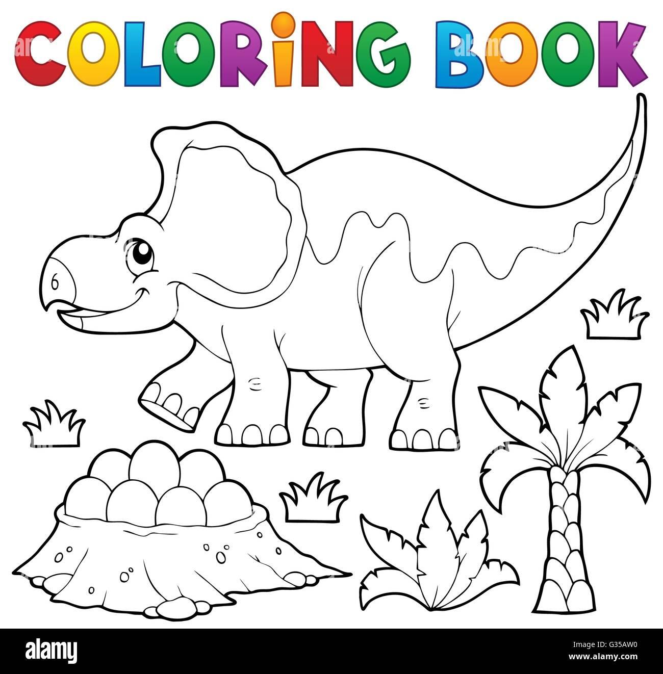 Libro Para Colorear De Dinosaurios Tema 3 Imagen Ilustración Foto
