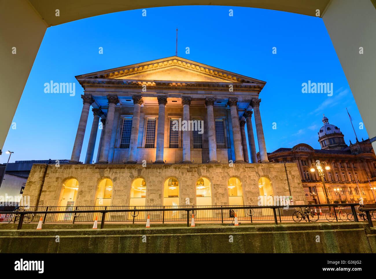 Ayuntamiento de Birmingham está situado en la plaza de la victoria, Birmingham, Inglaterra. Imagen De Stock
