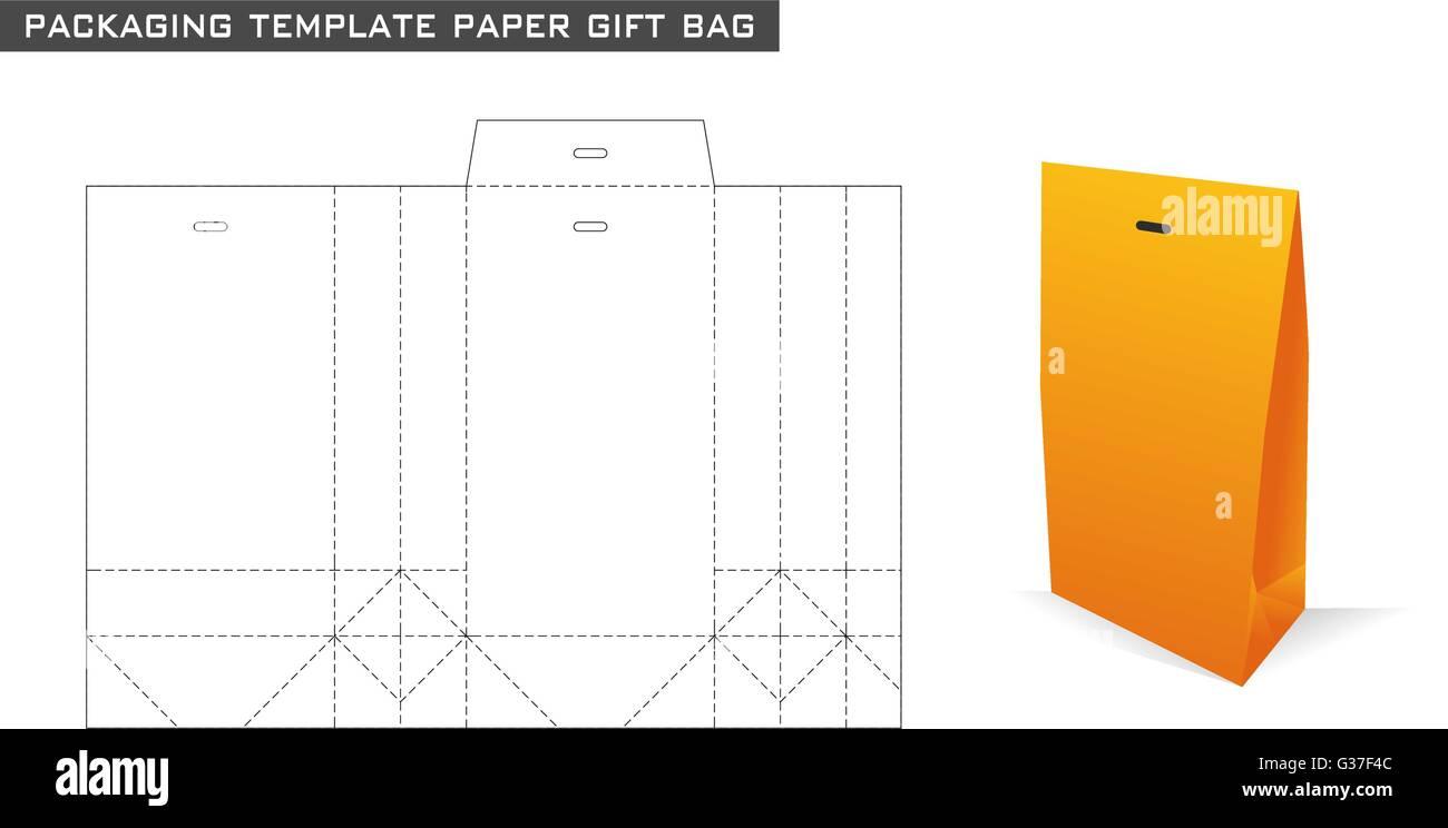 Bolsa Naranja Plantilla Embalaje En Papel De Color Regalo k8OXw0nP