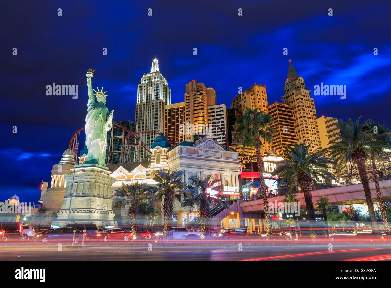 El 5 de agosto, Las Vegas: la ciudad de Nueva York New York Hotel & Casino el Aug 5, 2015 en Las Vegas, Nevada Foto de stock