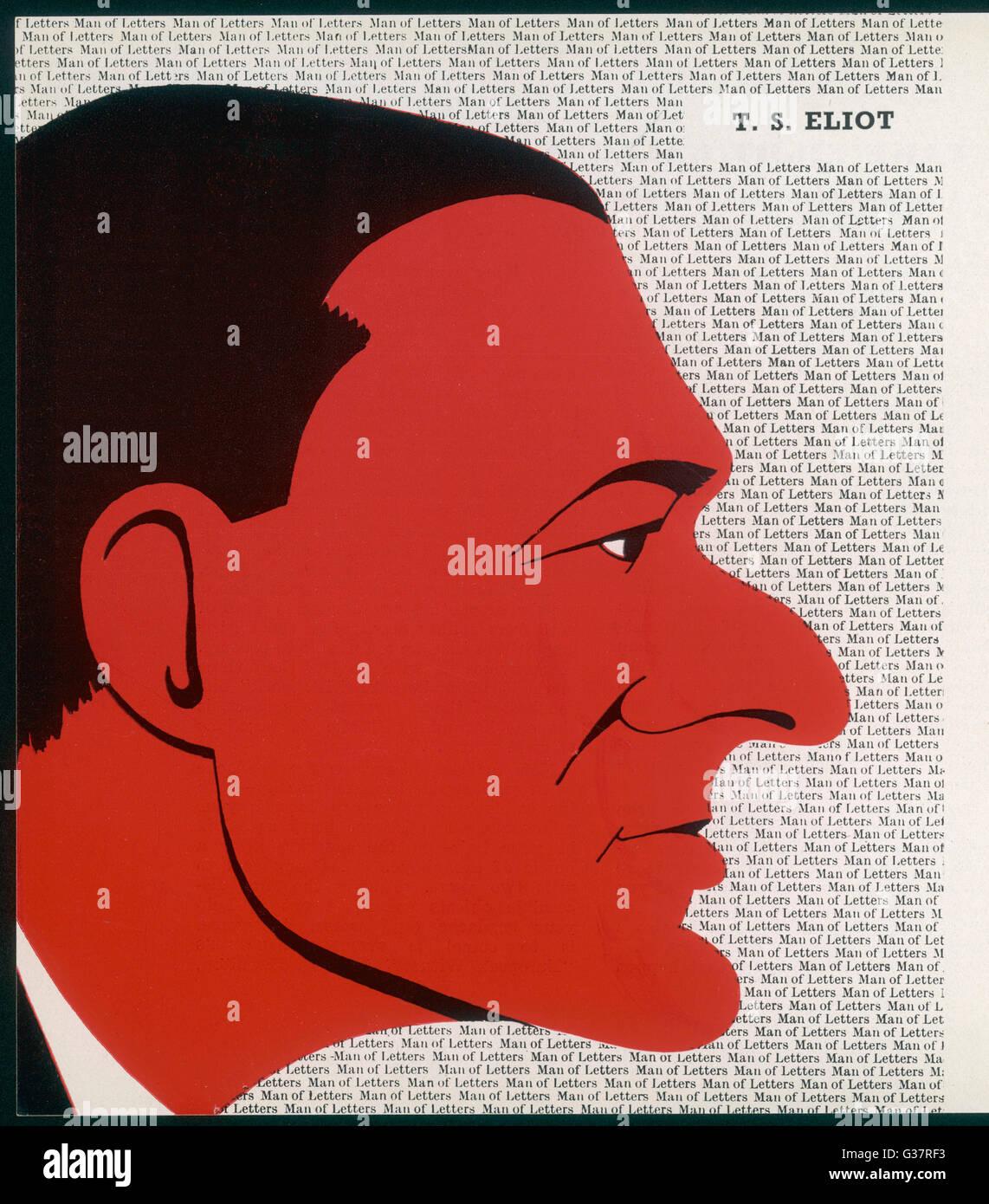 T.S.ELIOT americano nacido escritor Fecha: 1888 - 1965 Imagen De Stock